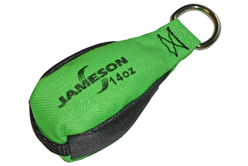 TB-14 Jameson Green/Black Throw Bag, 14 ounces