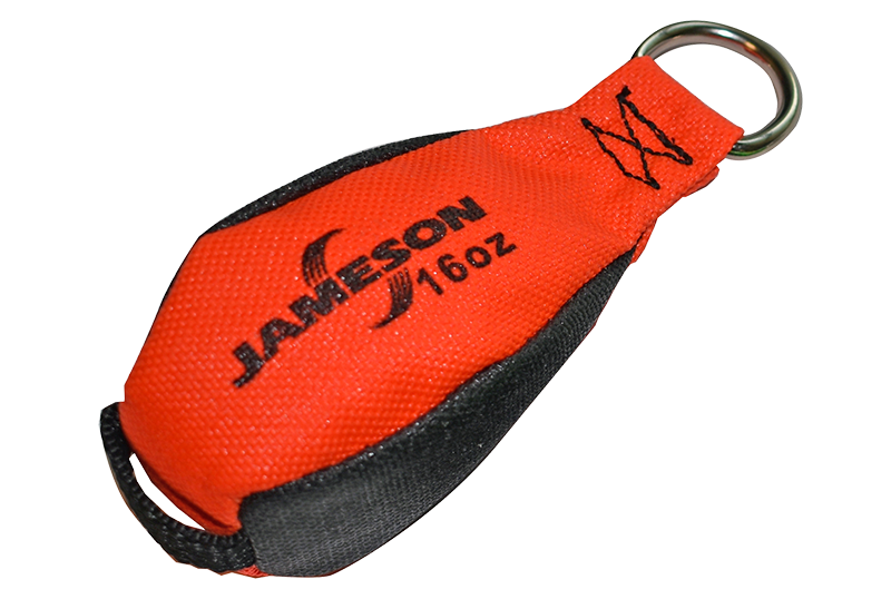 TB-16 Jameson Orange/Black Throw Bag, 16 ounces
